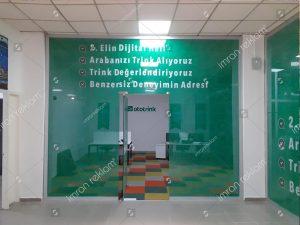 Ofis iç ve dış camları oneway kaplama