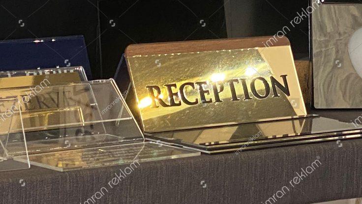 Reception tabelası