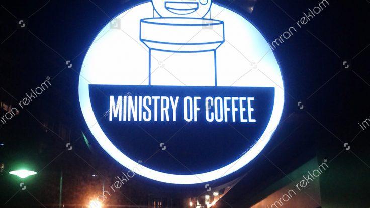 Yuvarlak Coffe Tabelası