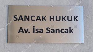 Avukatlık hukuk bürosu kapi isimliği