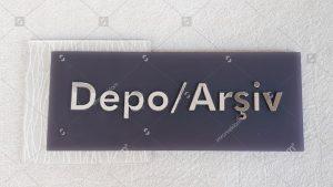 Depo arşiv kapı isimlik tabelası