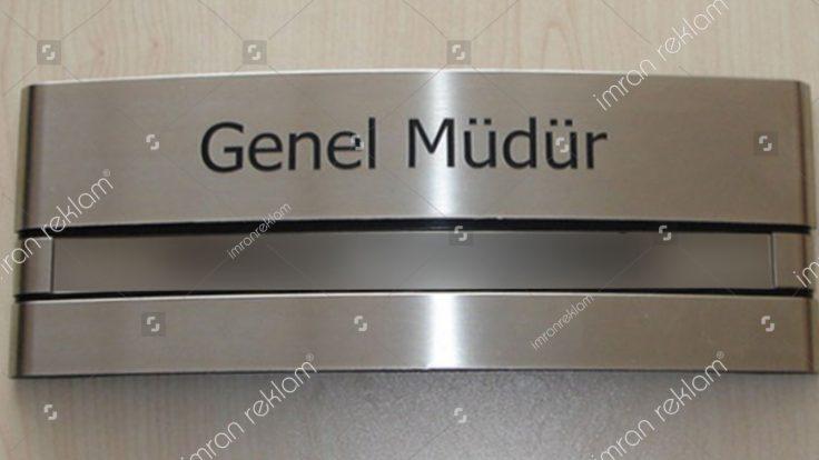 Genel müdür ofis kapı tabelası
