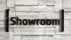 Pleksi harfli showroom kapı isimlik tabelası