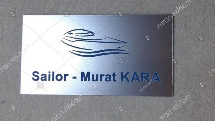 Sailor kapı isimlik tabelası