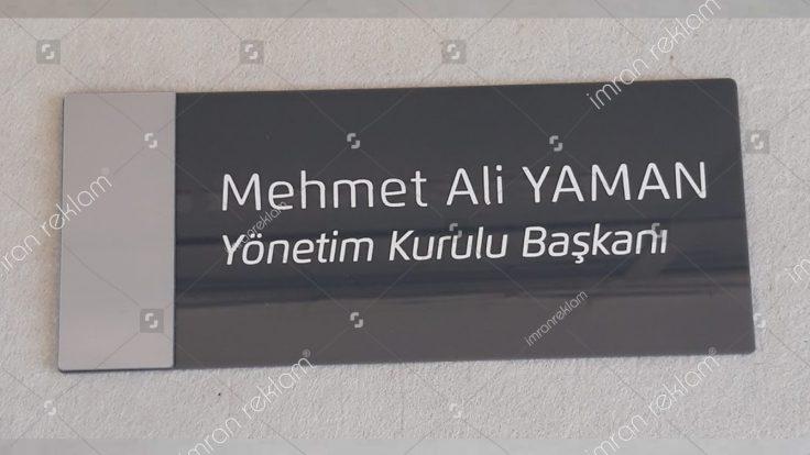 Yönetim kurulu başkanı kapı isimlik tabelası