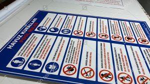 Havuz kuralları tabelası