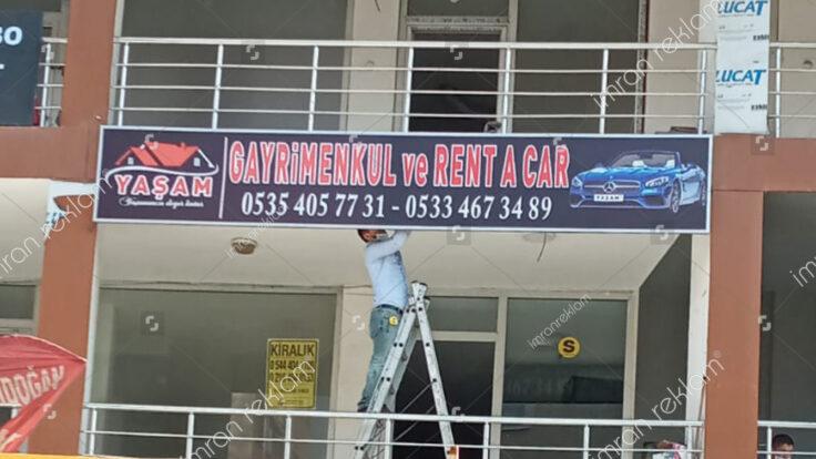 Gayrimenkul ve Rent A Car Tabelası