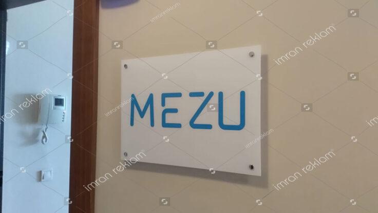 Pleksi Ofis Kapı Tabelası