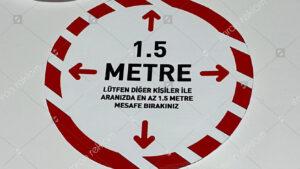 Sosyal Mesafe Sticker ve Etiketleri