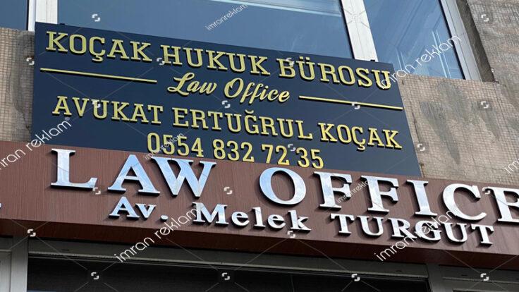 Hukuk Bürosu Tabelası