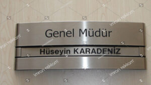 Ofis Kapı İsimliği Modelleri