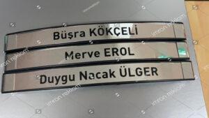 İsim Değiştirilen Kapı Tabelası