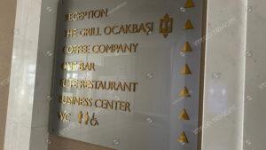 Otel İçi Yönlendirme Tabelası