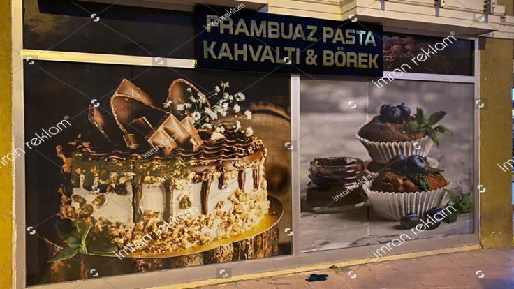 Pasta Cafe Cam Reklam Kaplama