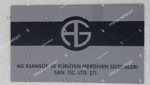 Asansör Firması Pleksi Kapı Tabelası