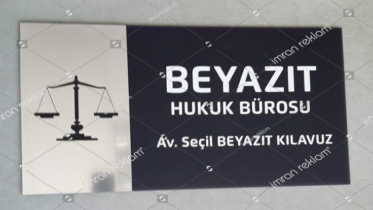Hukuk Bürosu Kapı Tabelası