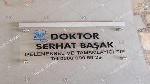 Işıklı Pleksi Doktor Tabelası