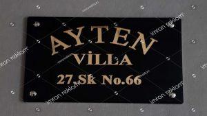 Villa Girişi Tabelası