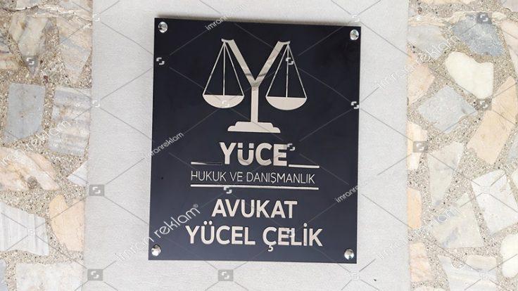 Yüce Hukuk Danışmanlık Kapı Tabelası