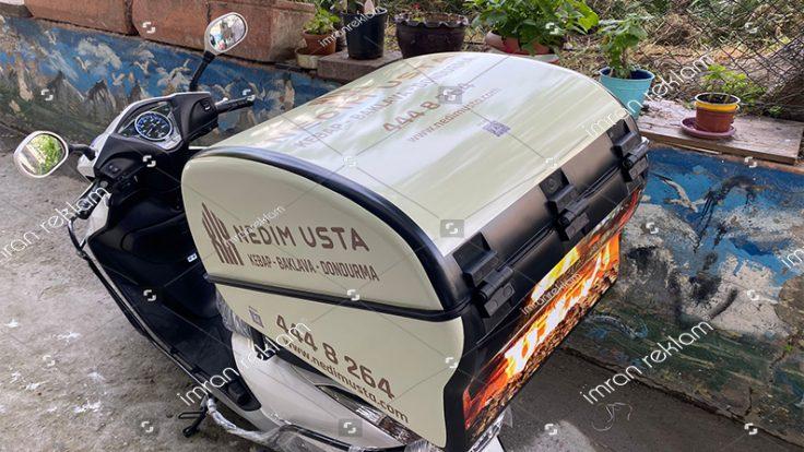 Kebapçı Motosiklet Sepeti Reklam Kaplama