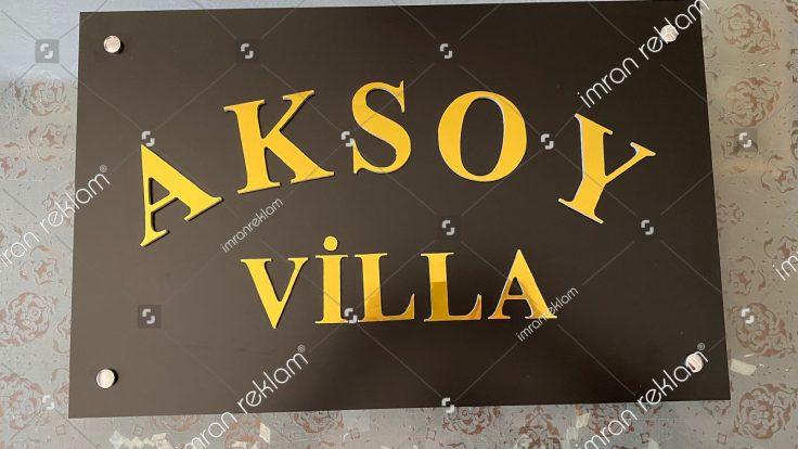 Villa Tabelası