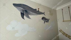 Çocuk odası duvarı görsel kaplama