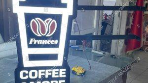 Frances Cafe Bardak Şekilli Işıklı Tabela