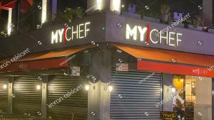 Işıklı kutu harfli restoran tabelası
