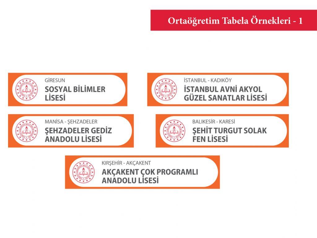 Ortaöğretim Tabelası
